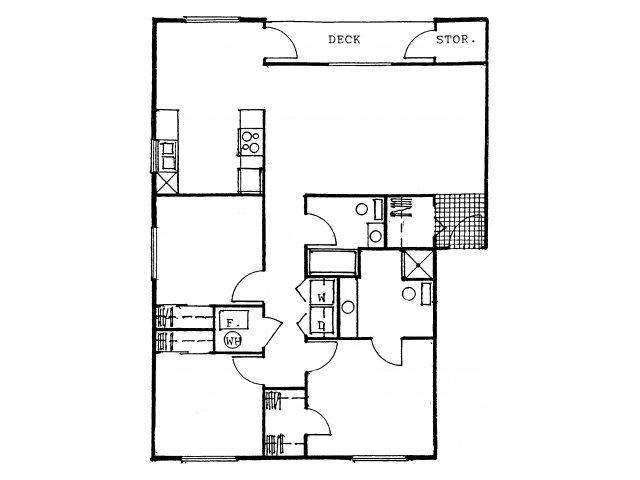 THREE BEDROOMS / TWO BATHROOMS