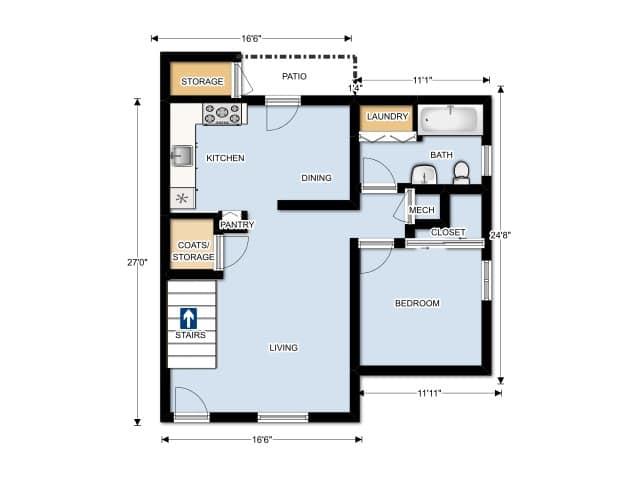 THREE BEDROOM/ TWO BATHROOMS LOWER