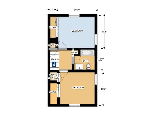 THREE BEDROOM/ TWO BATHROOMS UPPER
